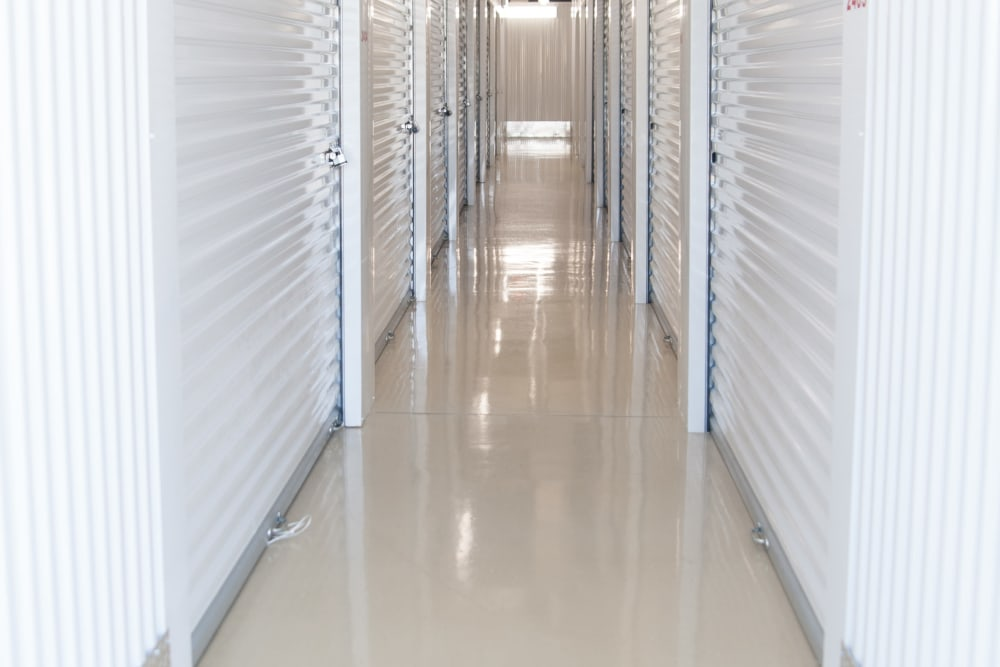 View of hallway featuring storage units at 1-800-SELF-STORAGE.com in Troy, Michigan