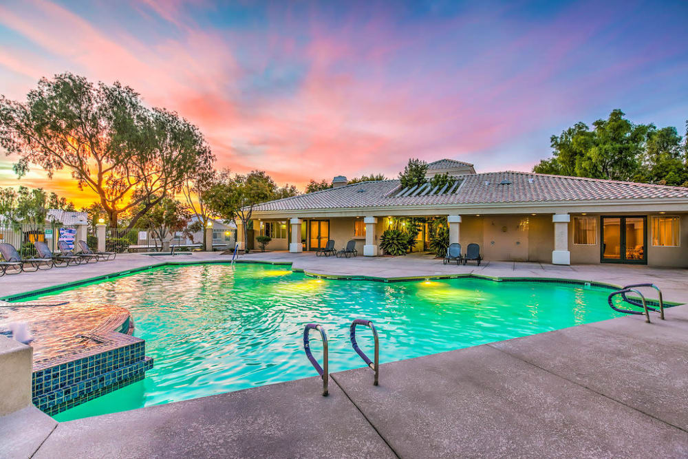 Avion at Sunrise Mountain offers residents with a sparkling pool.