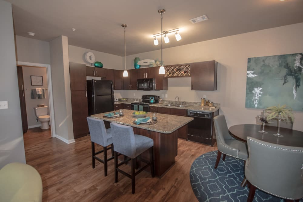 Kitchen At Springs at Kenosha In Springs at Kenosha Apartments