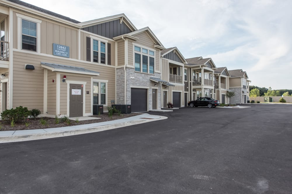 Attached Garages At Springs at Kenosha In Springs at Kenosha Apartments