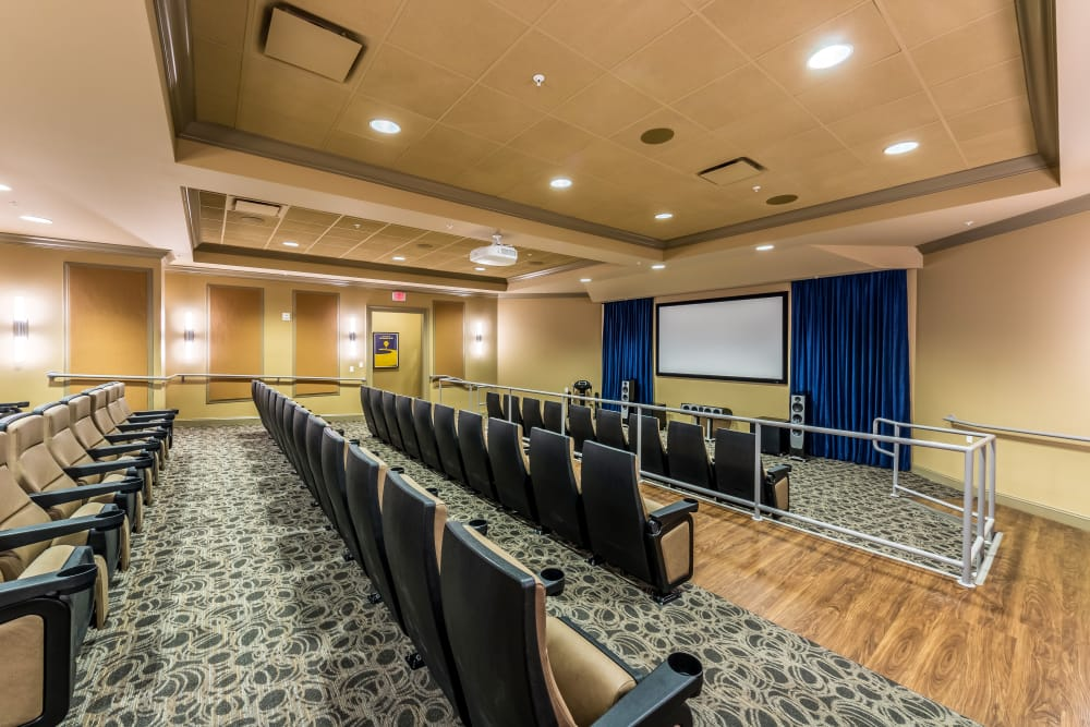 movie theater at Discovery Village At The Forum - Independent Living