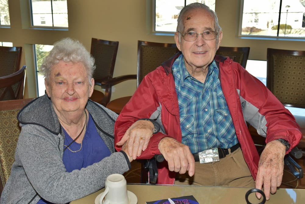 Happy couple living at Eastern Star Masonic Retirement Campus in Denver, CO