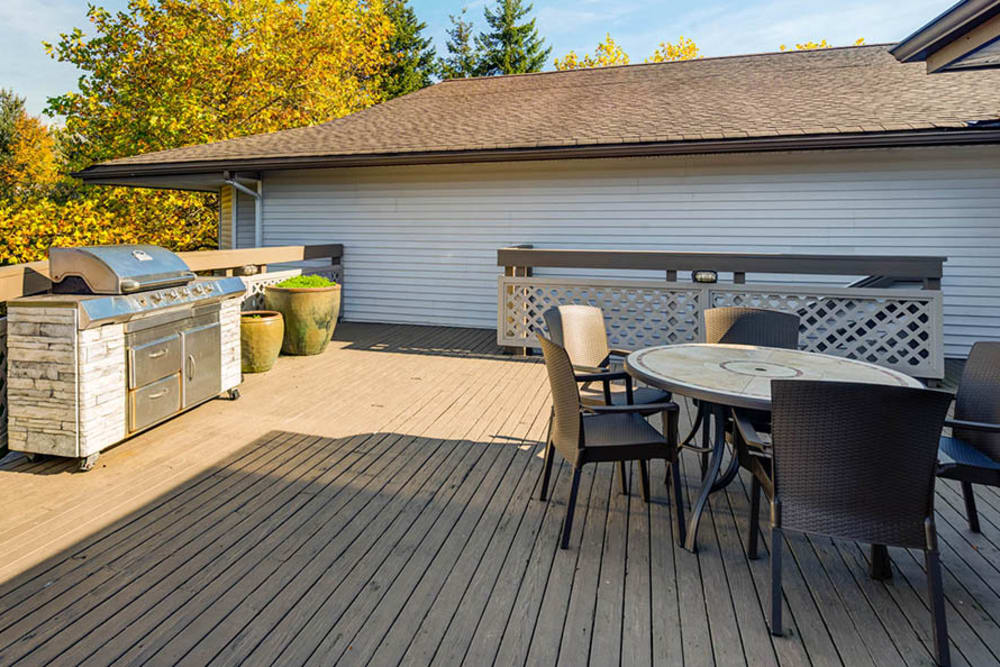 BBQ area at Walden Pond Apartments in Everett, Washington