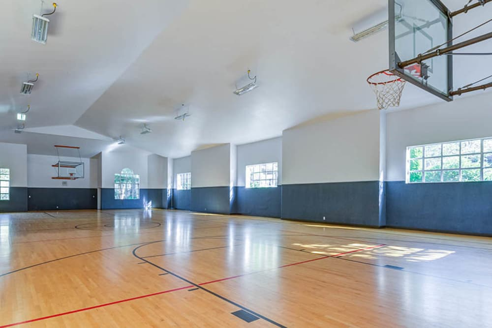 Indoor basketball court at Walden Pond Apartments in Everett, Washington