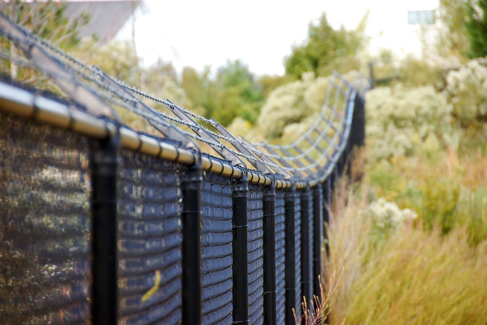 Security fence at Advantage Self Storage