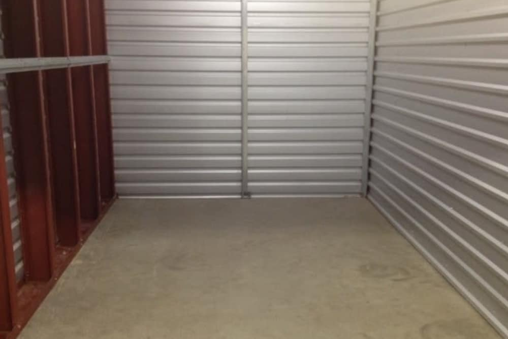 View from inside of a storage unit at One Stop Storage
