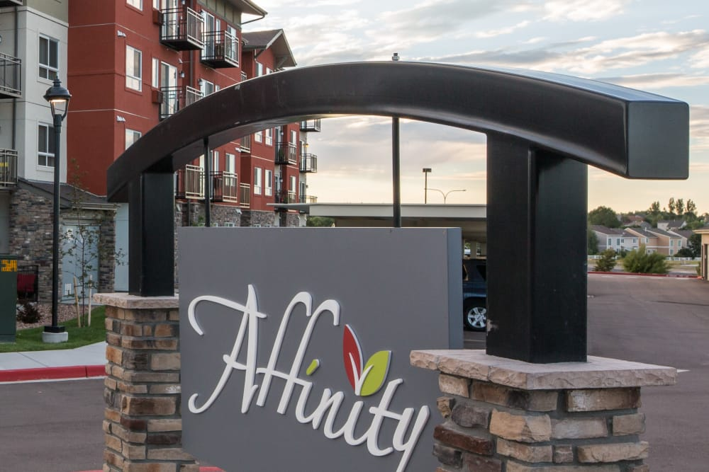 Affinity at Colorado Springs welcome sign