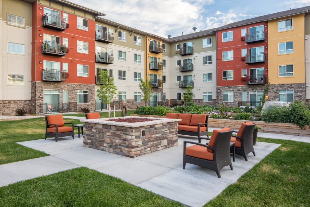 Resident fire pit at Affinity at Colorado Springs