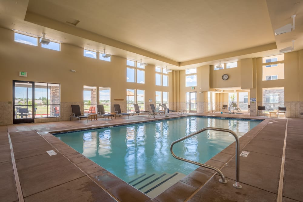 Indoor pool at Affinity at Colorado Springs