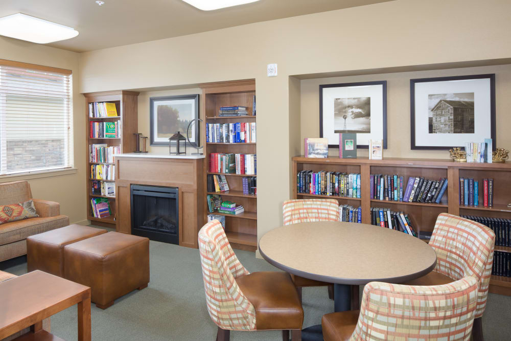 Reading room at Affinity at Colorado Springs