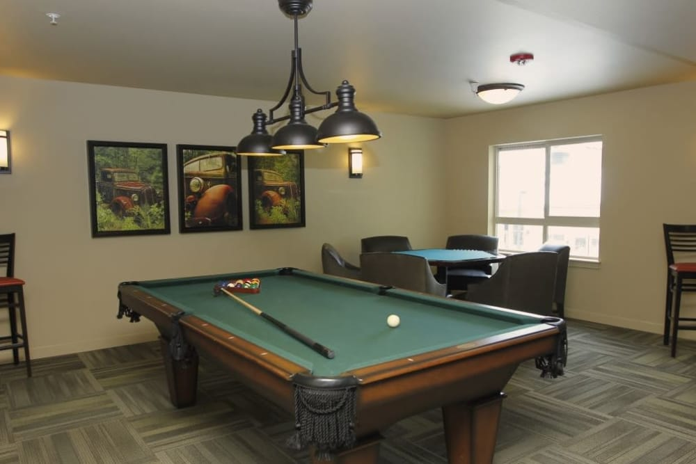 Play billiards with your neighbors at Affinity at Lafayette
