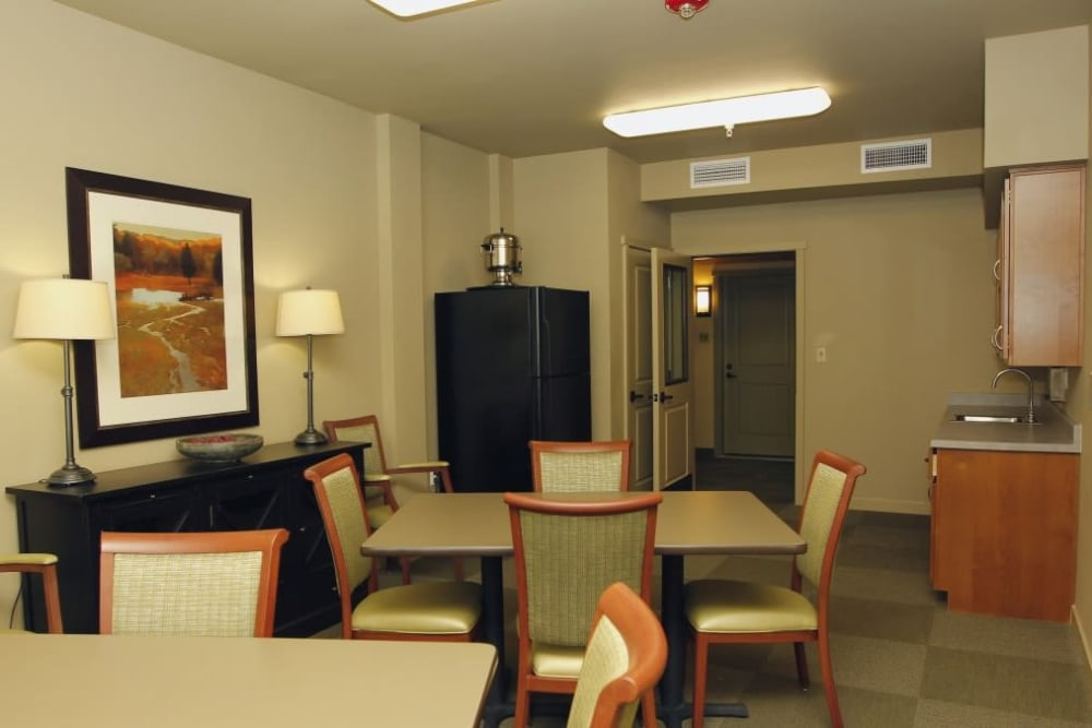 Resident lounge at Affinity at Lafayette
