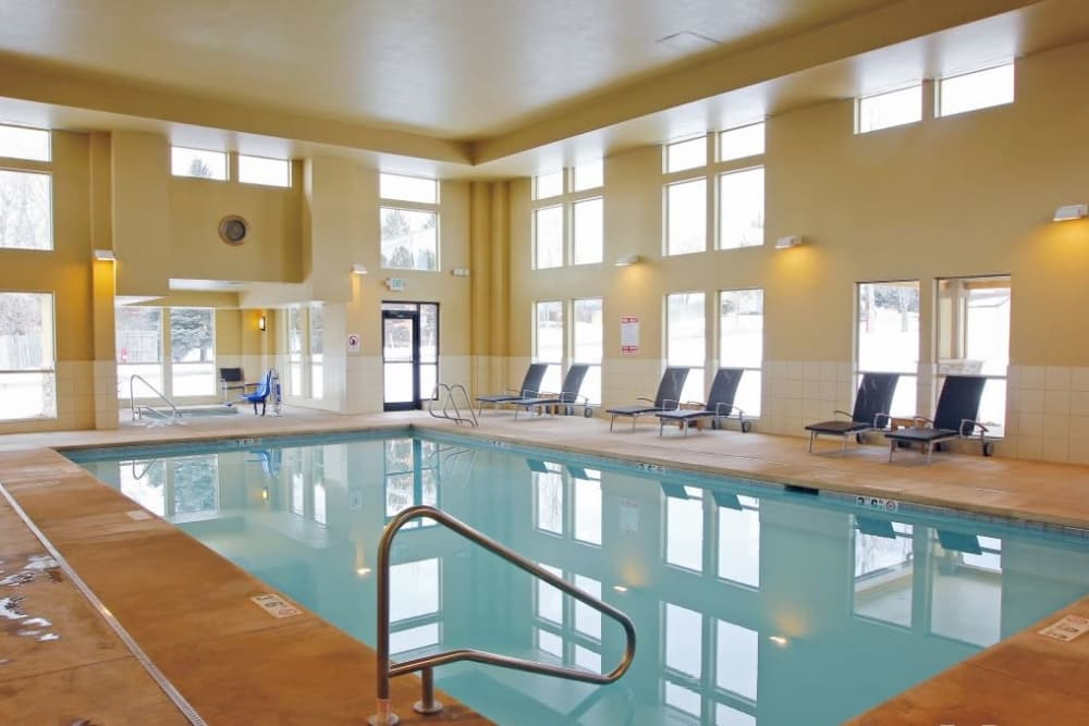 Affinity at Lafayette offers an indoor saltwater pool for all residents