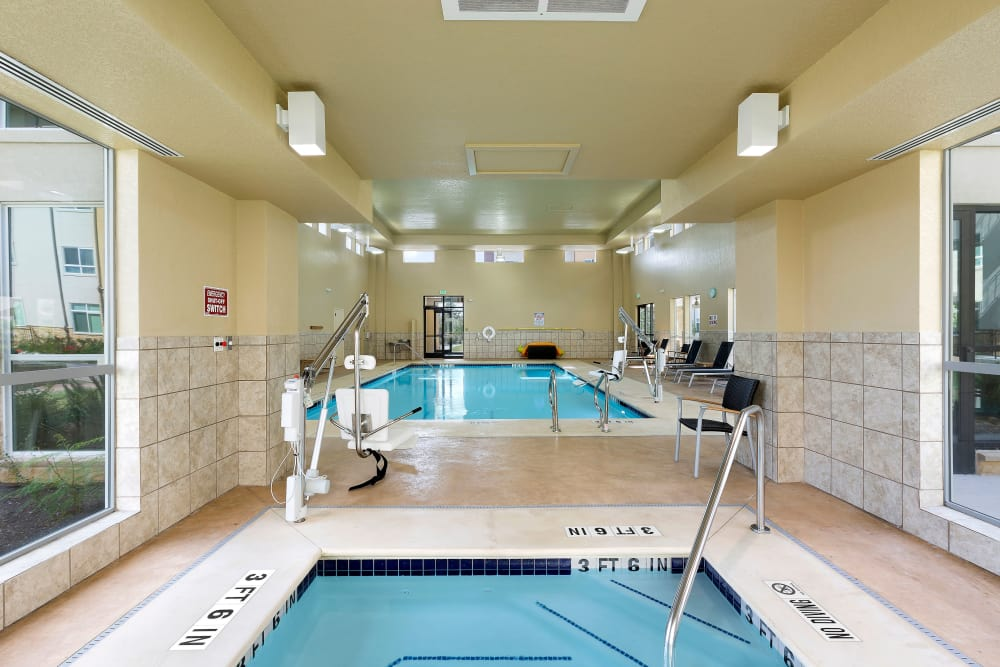 Indoor spa at Affinity at Round Rock