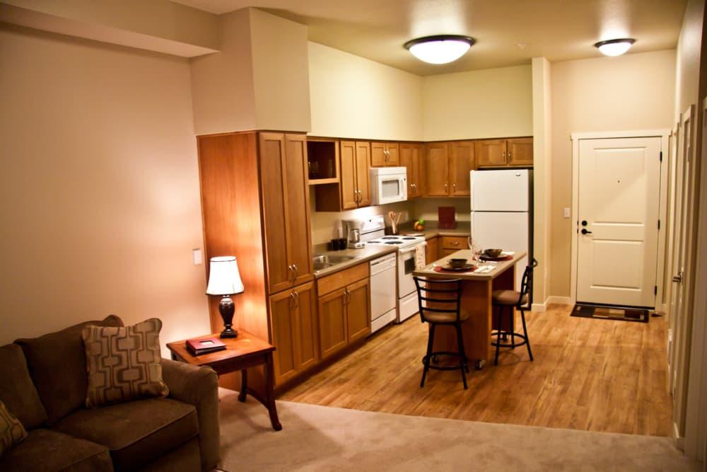 Living room at Affinity At Walla Walla in Washington