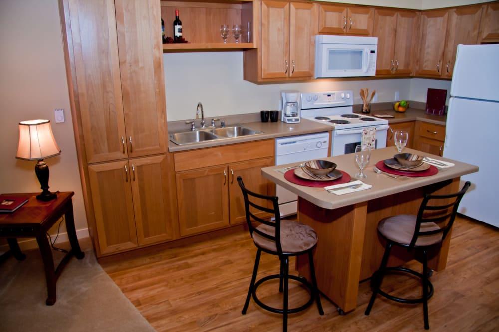 Beautiful kitchen at Affinity At Walla Walla in WA