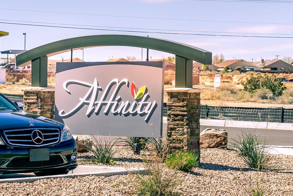 Welcome sign at Affinity at Albuquerque