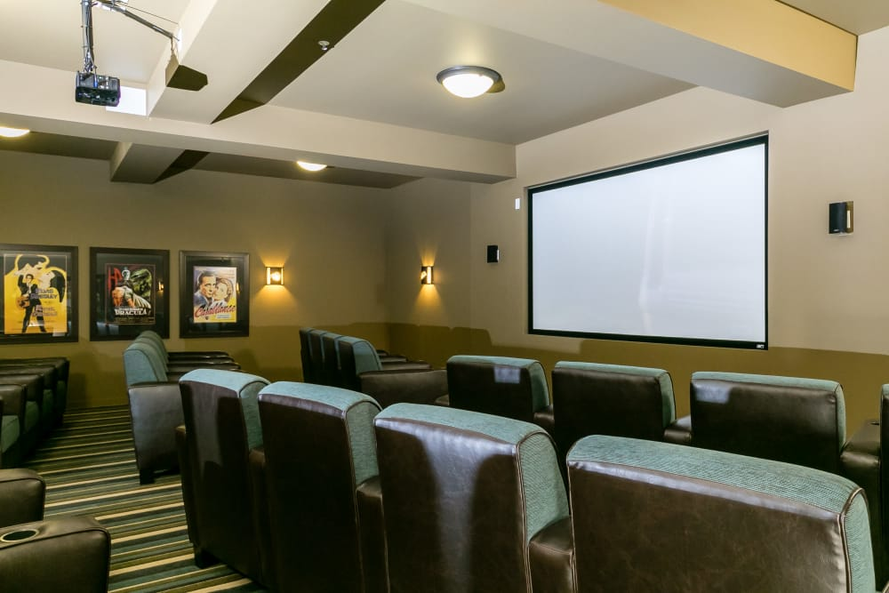 On-site theater at Affinity at Albuquerque