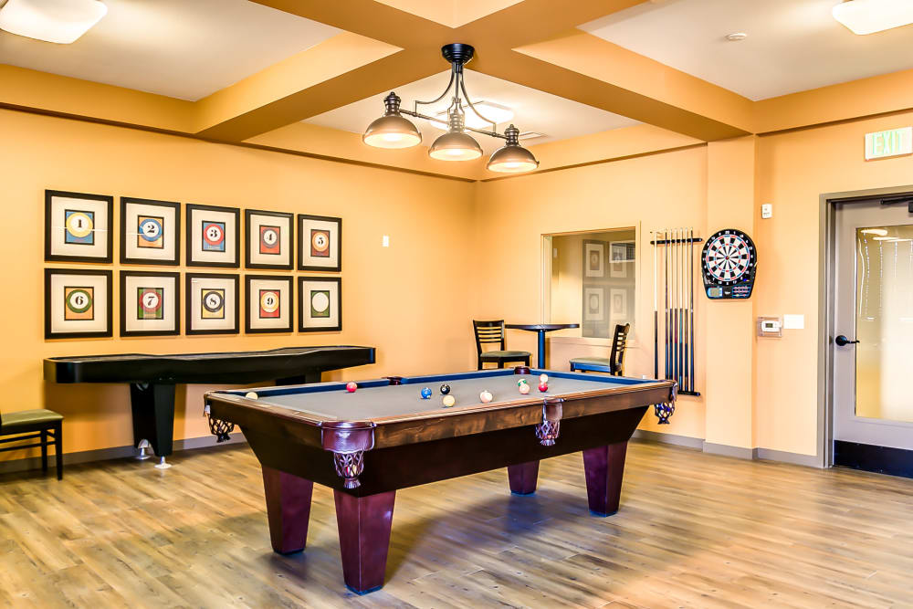 Play pool at Affinity at Albuquerque