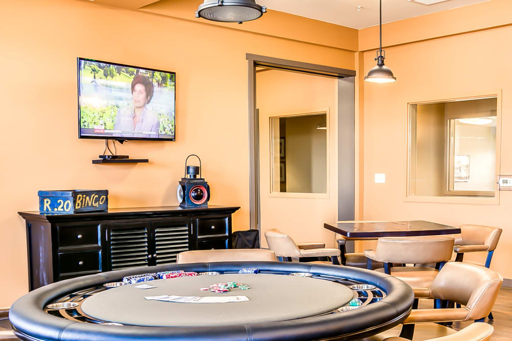 Poker table at Affinity at Albuquerque