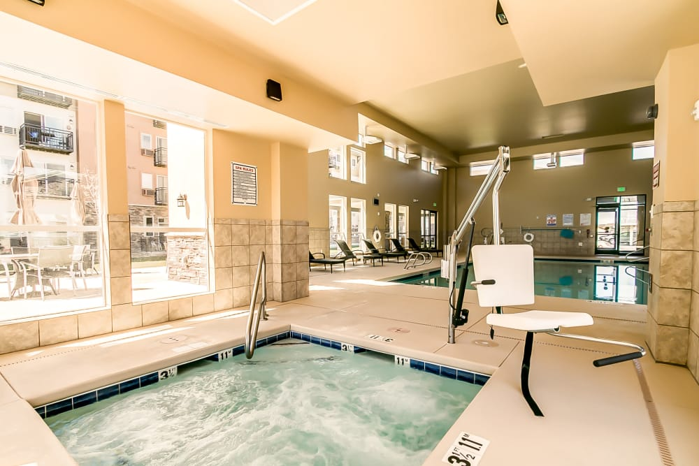 Indoor spa at Affinity at Albuquerque