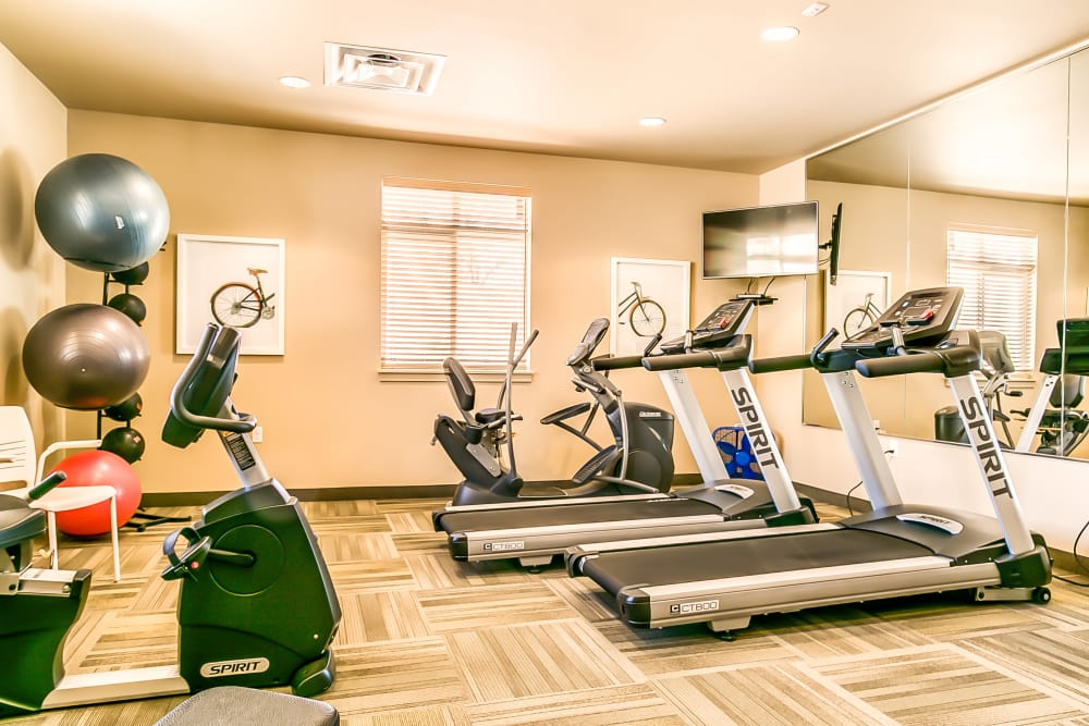 Fully equipped fitness center at Affinity at Albuquerque