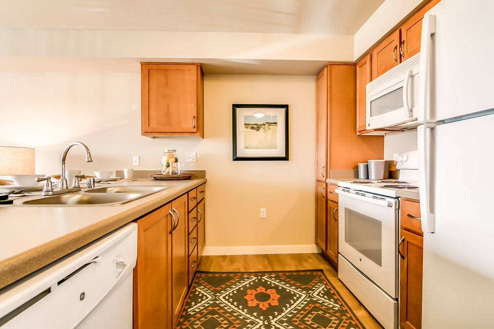 Fully-equipped kitchen at Affinity at Albuquerque