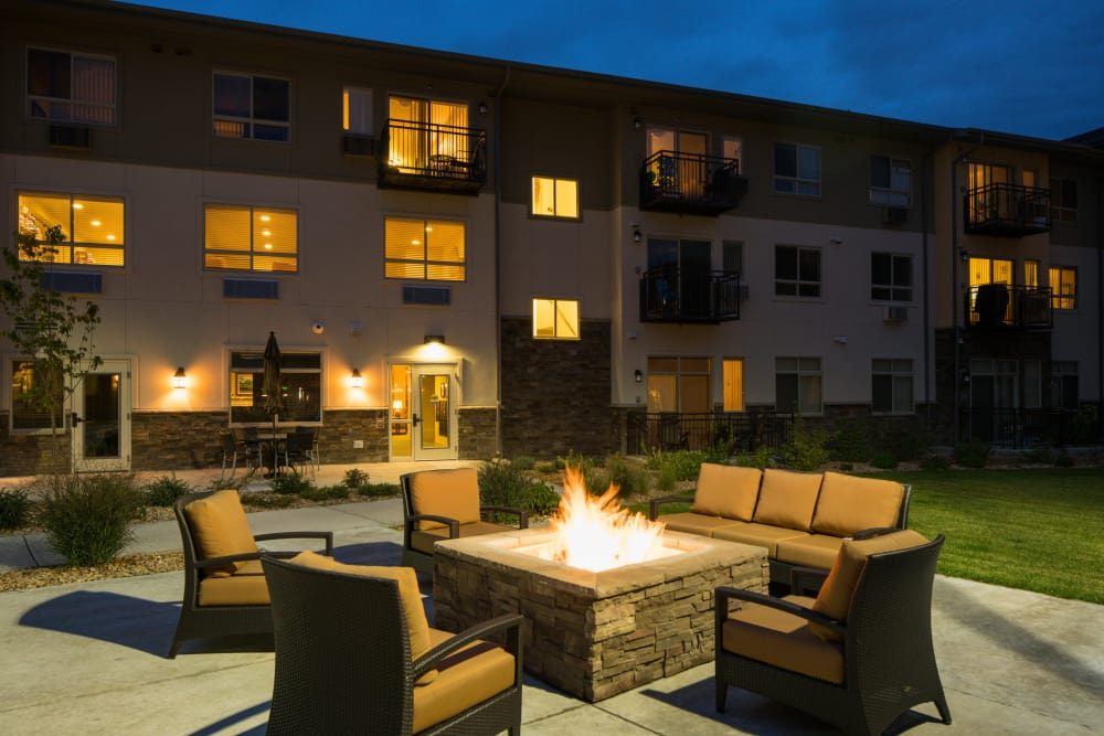Cozy fire pit at Affinity at Loveland