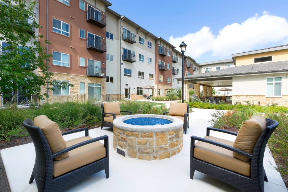 Affinity at Monterrey Village homes with a view of the fire-pit