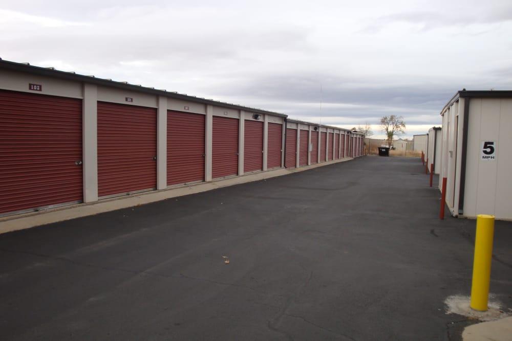 Interior storage units at Budget Mini Storage