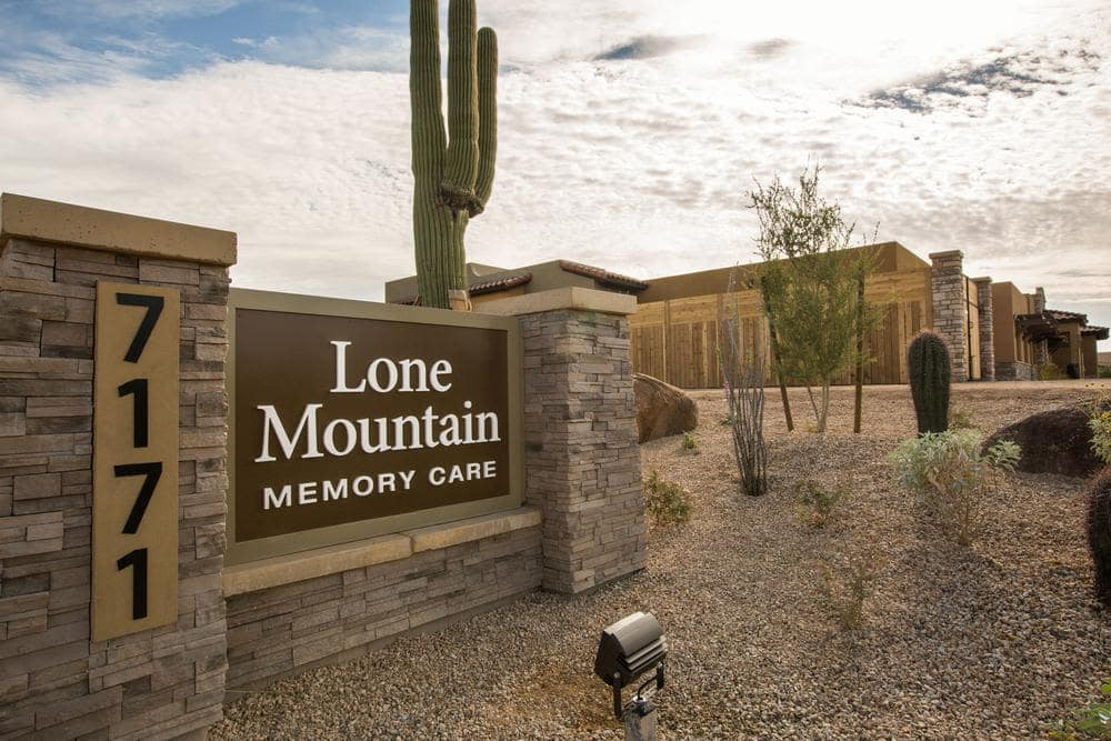 Beautiful Community Entrance at Lone Mountain Memory Care in Scottsdale, AZ