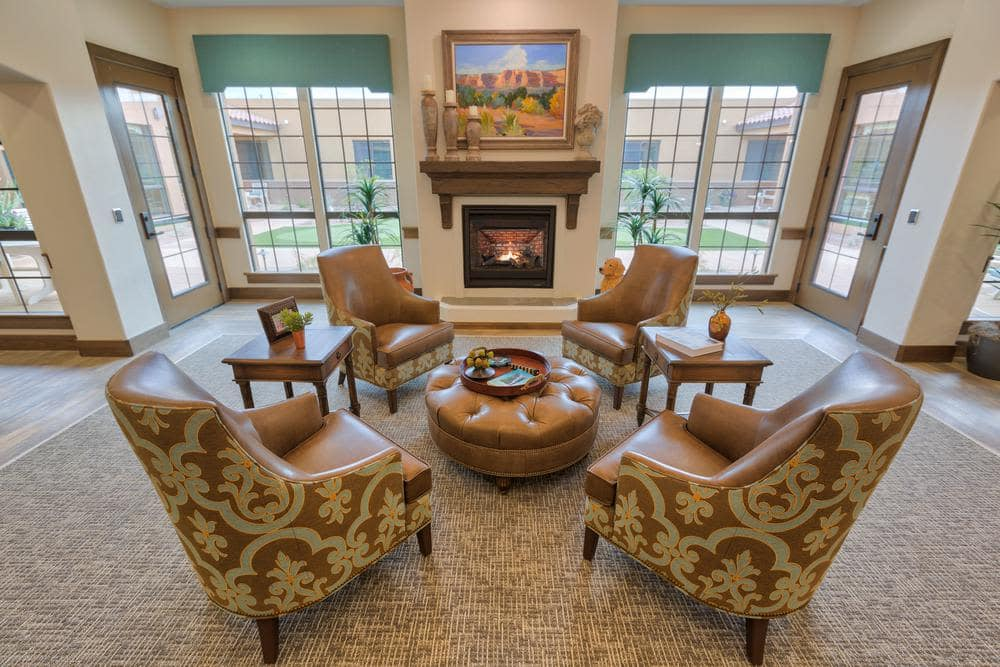 Beautiful Living Room at Lone Mountain Memory Care in Scottsdale, AZ