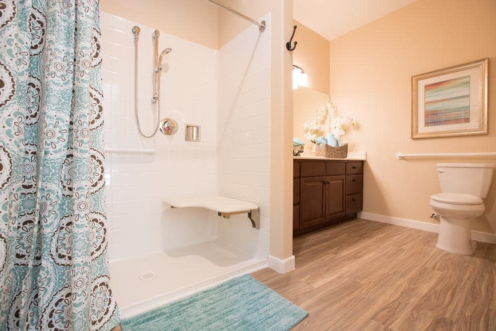 Walk-in Shower at Lone Mountain Memory Care in Scottsdale, AZ