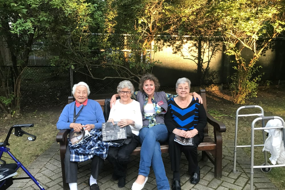 residents enjoying the outdoors