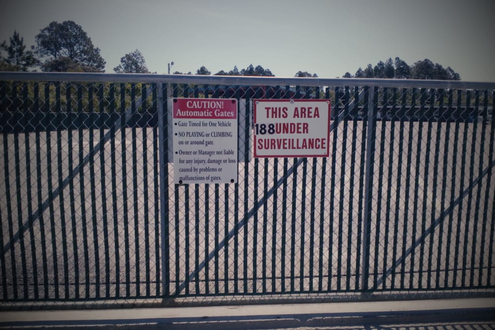 Access gate at America's Mini-Storage and Office Complex in Port St. Joe