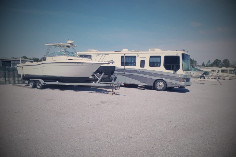 RV and boat parking at America's Mini-Storage and Office Complex in Port St. Joe, Florida