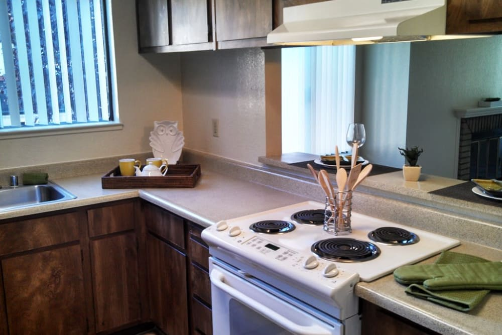Model kitchen with all the modern conveniences at Waterfield Square Apartment Homes