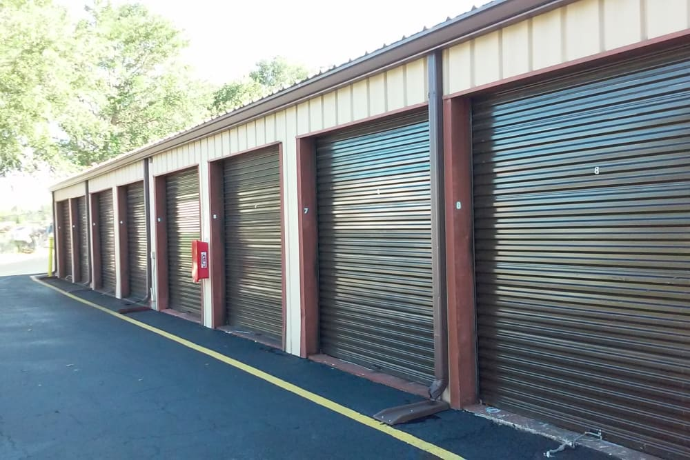 View of storage units at Best American Storage in Tavares