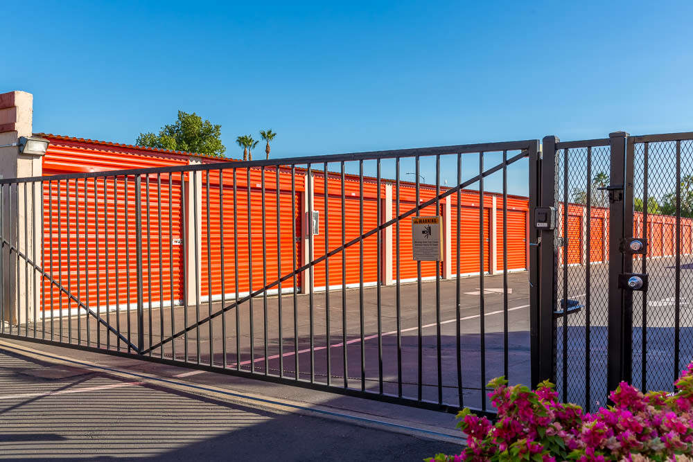 Security gate keeps your self storage safe in Mesa, AZ