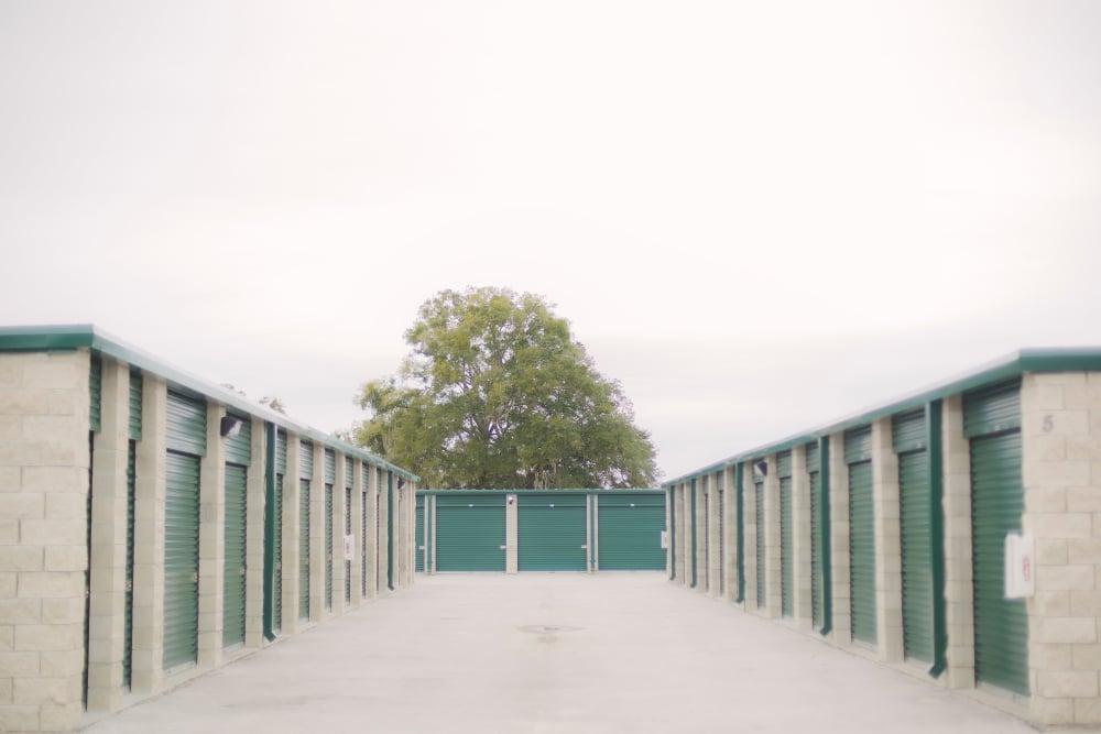 Wide aisle at Neighborhood Storage in Ocala, FL