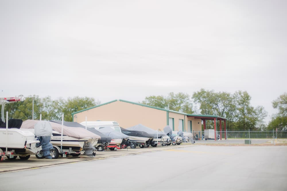 RV and boat storage at Neighborhood Storage in Ocala, FL