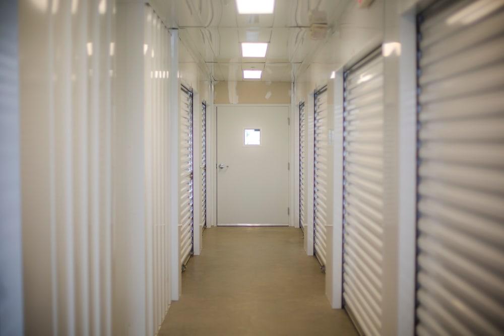 Interior storage units at Neighborhood Storage in Ocala, FL