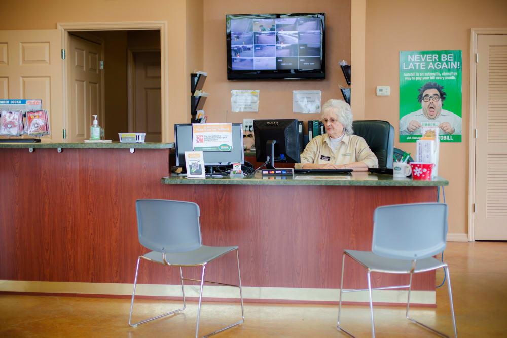 Front desk at Neighborhood Storage in Ocala, FL