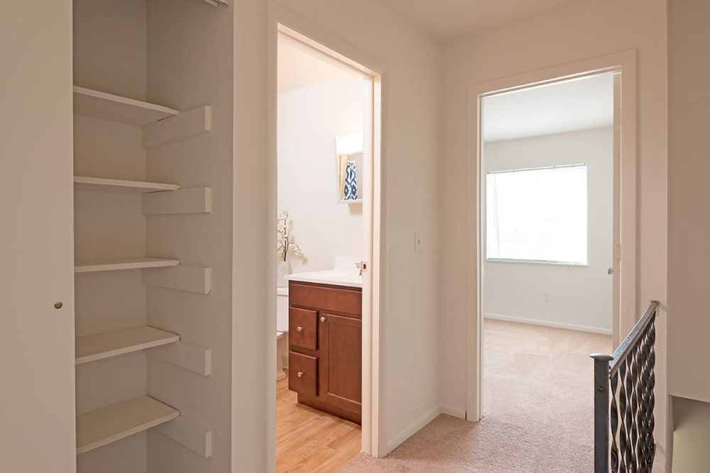 Ample closet space available at Maple Oaks Estates in Middletown