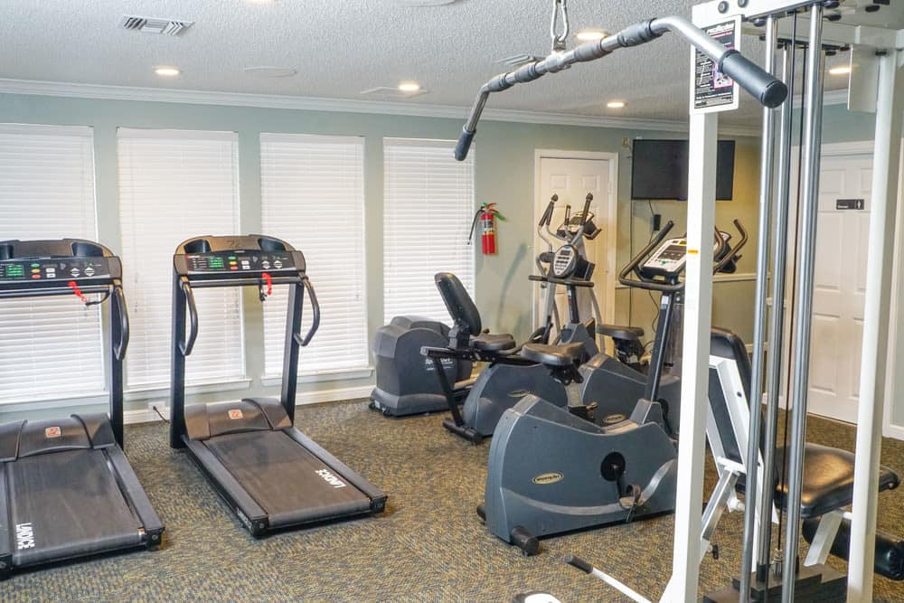 Fitness center at The Abbey at Medical Center in San Antonio