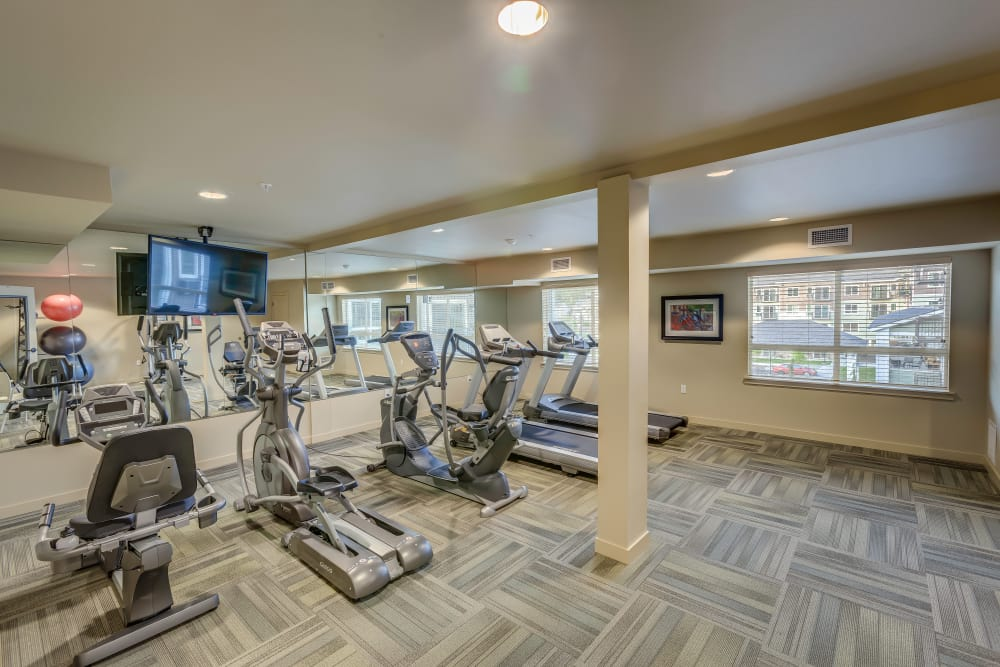 Fully-equipped fitness center at Affinity at Colorado Springs