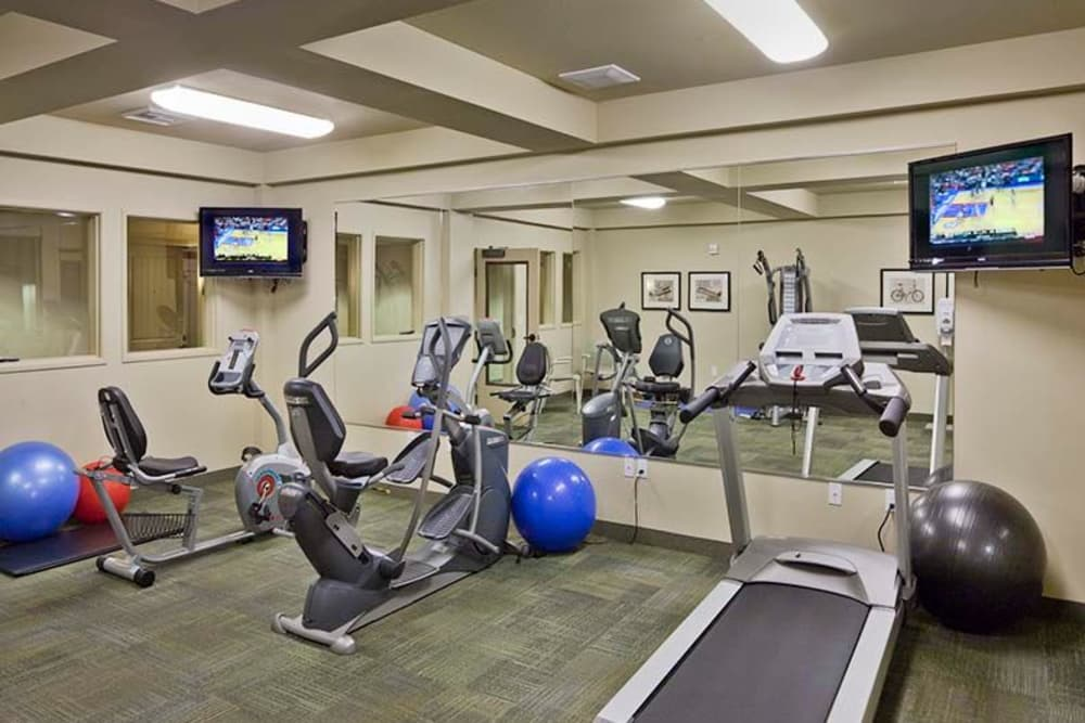 Fitness center at Affinity at Mill Road
