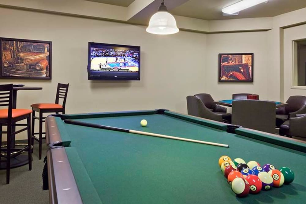 Pool table at Affinity at Mill Road