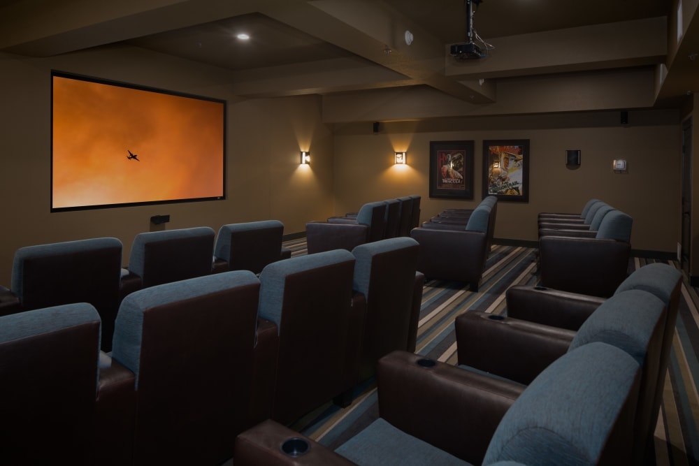 Onsite theater at Affinity at Fort Collins
