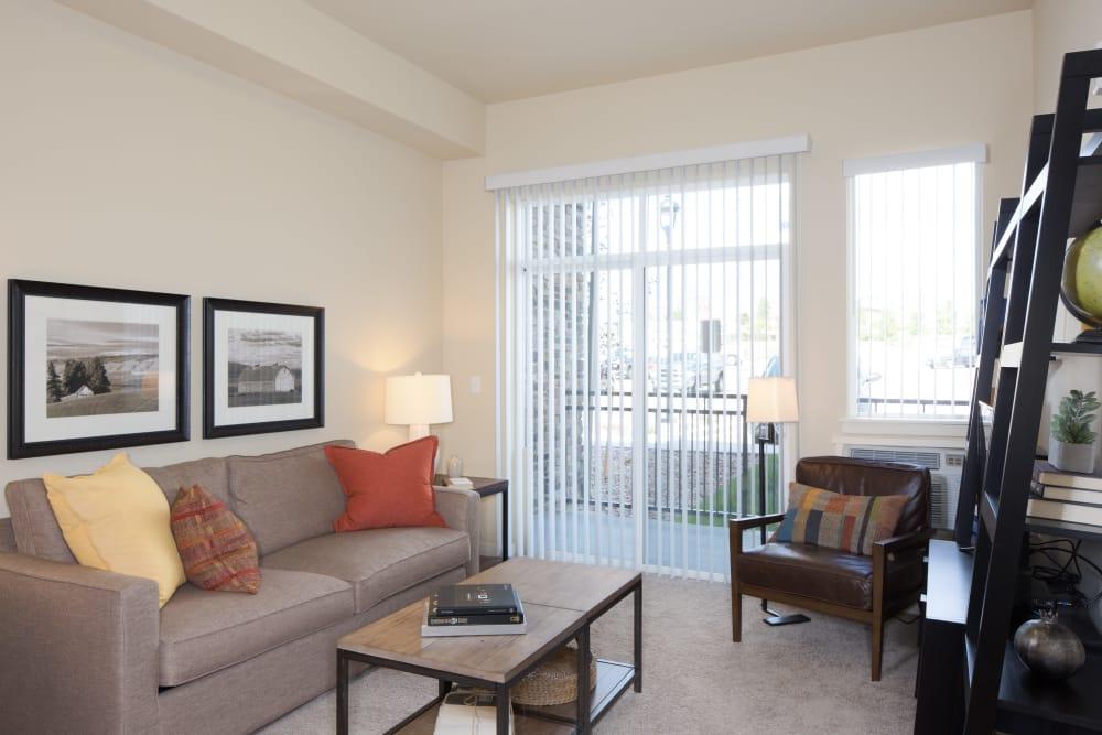 Sun-lit living room at Affinity at Fort Collins